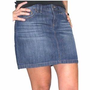 Ann Taylor Loft Denim Mini Skirt Medium Wash Jean